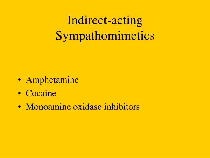 Indirect-acting Sympathomimetics
