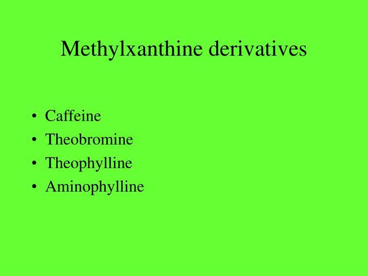 Methylxanthine derivatives