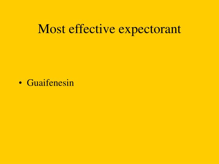Most effective expectorant