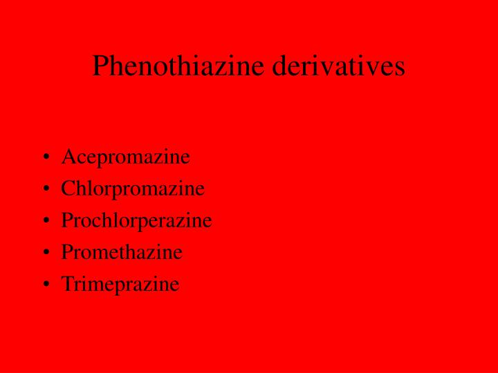Phenothiazine derivatives