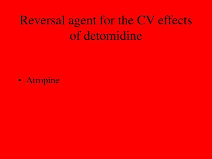 Reversal agent for the CV effects of detomidine