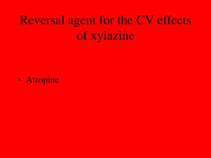 Reversal agent for the CV effects of xylazine