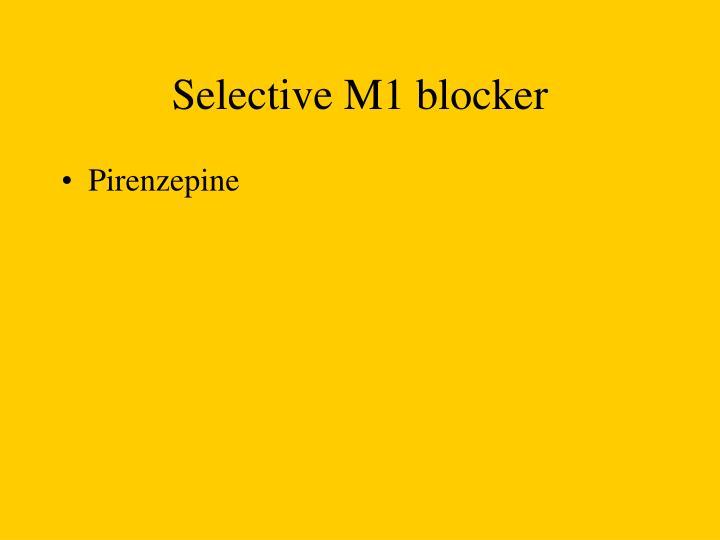 Selective M1 blocker