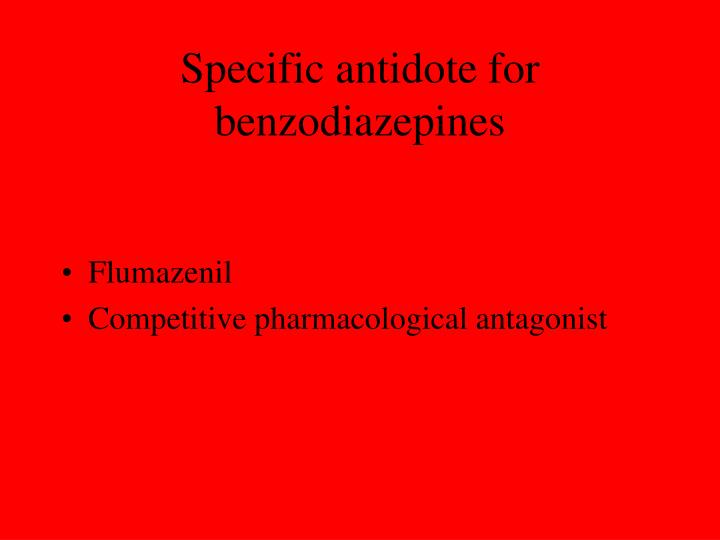 Specific antidote for benzodiazepines