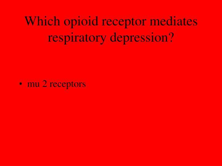 Which opioid receptor mediates respiratory depression?