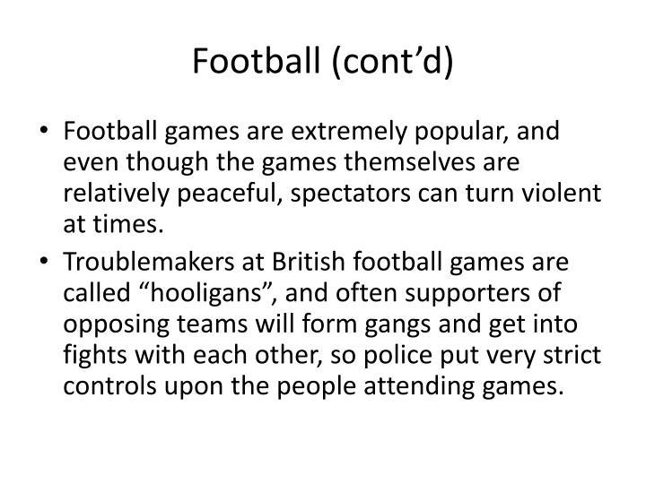 Football (cont'd)