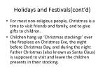 holidays and festivals cont d