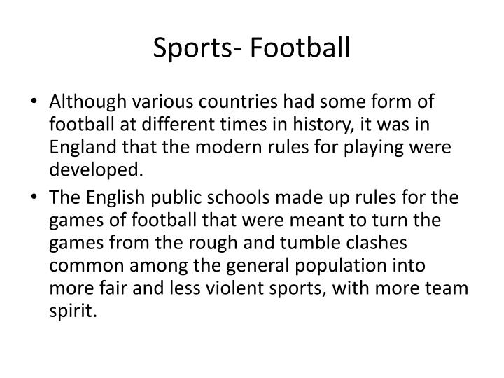 Sports- Football