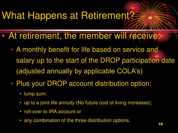 What Happens at Retirement?