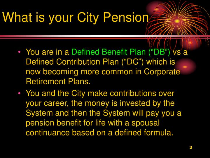 What is your City Pension