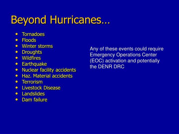 Beyond Hurricanes…