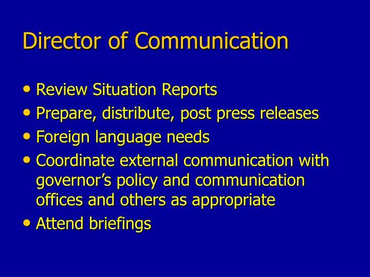Director of Communication