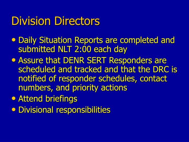 Division Directors