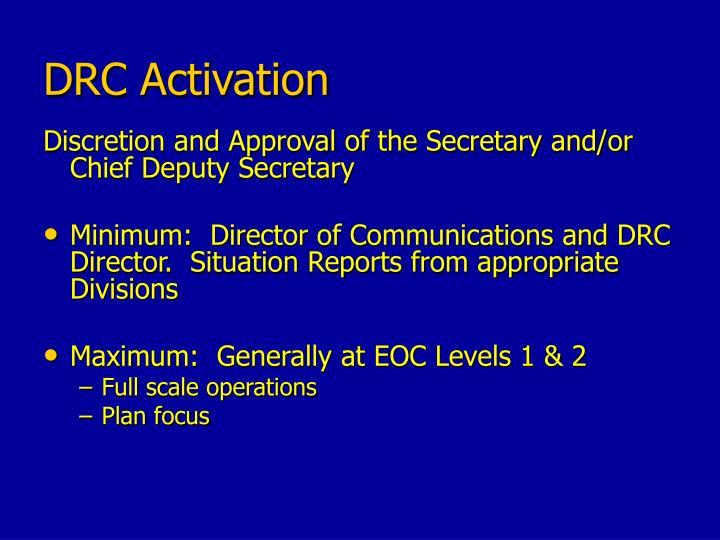 DRC Activation