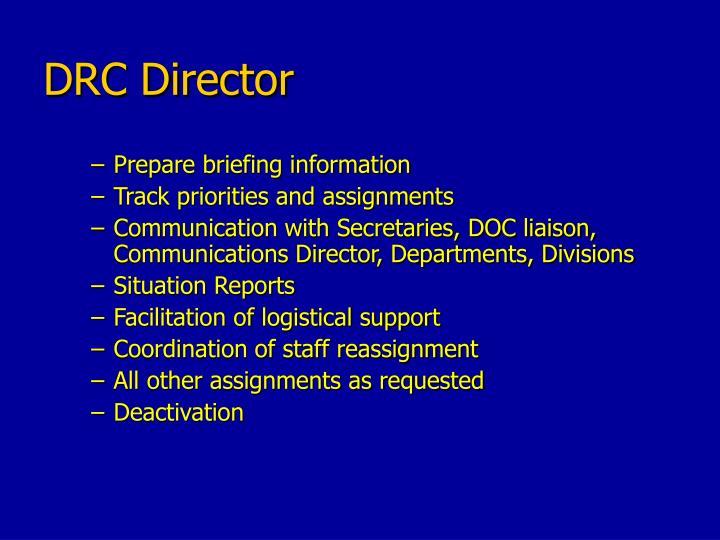 DRC Director