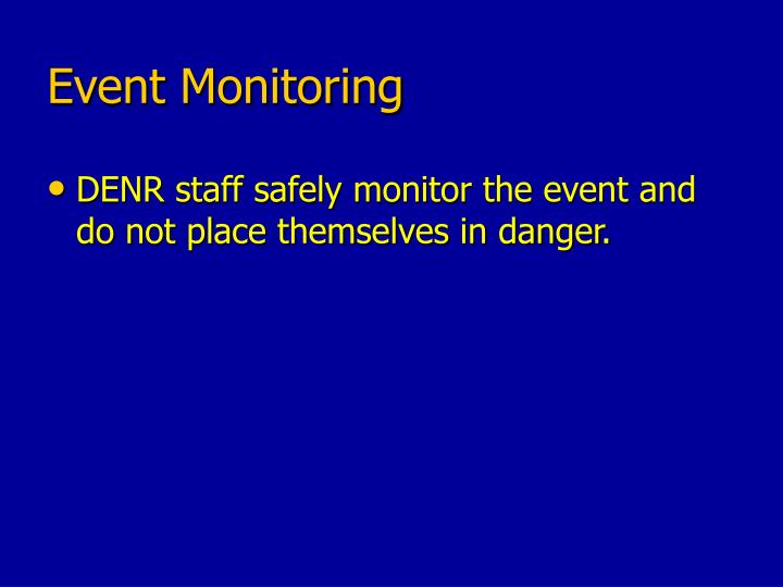 Event Monitoring