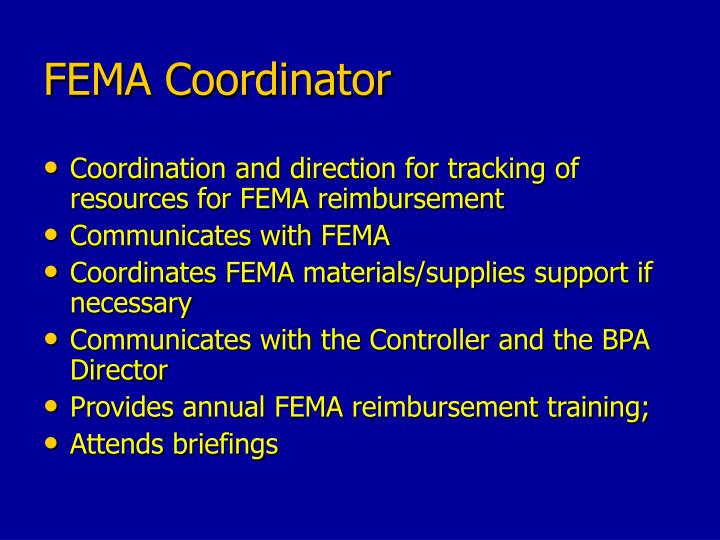 FEMA Coordinator