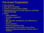 pre event preparation
