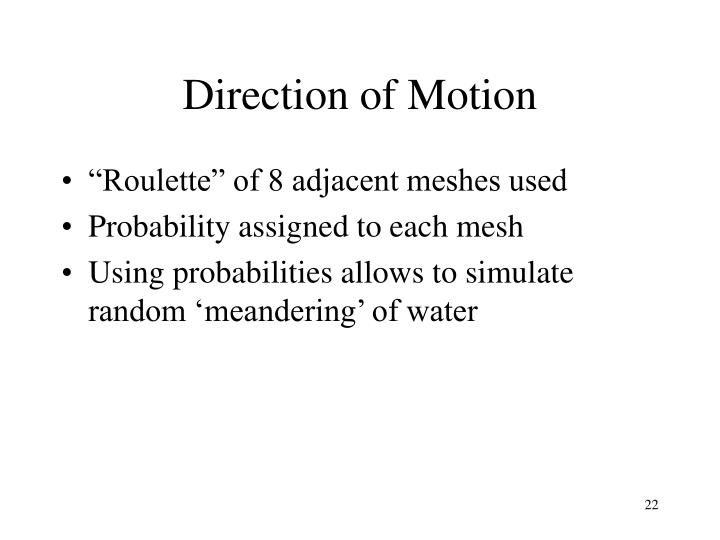 Direction of Motion