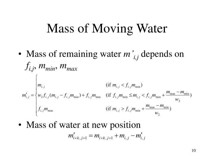 Mass of Moving Water