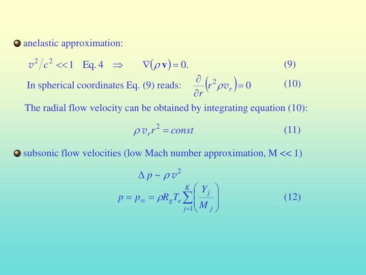 anelastic approximation: