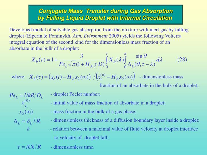 Conjugate Mass  Transfer during Gas Absorption