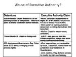 abuse of executive authority