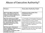 abuse of executive authority2