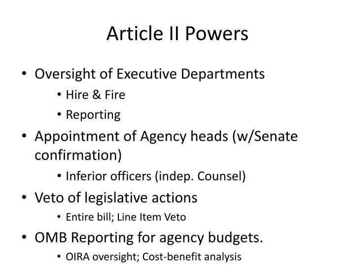 Article II Powers