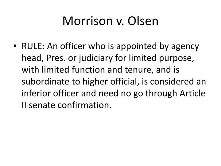 Morrison v. Olsen