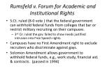 rumsfeld v forum for academic and institutional rights