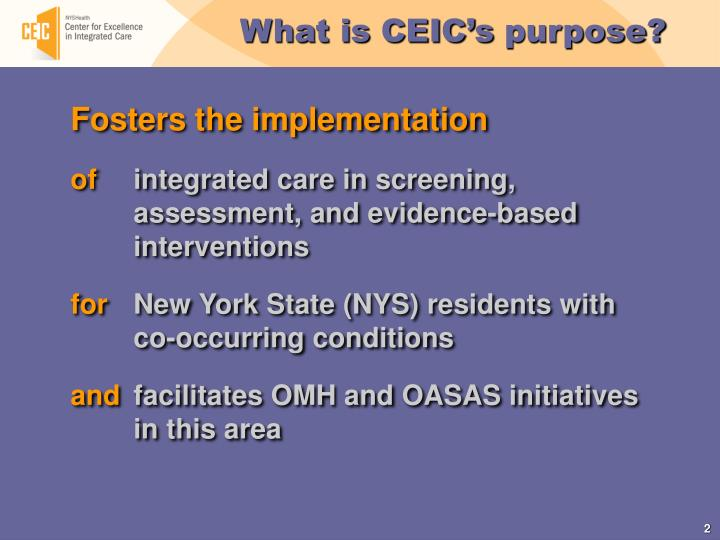 What is CEIC's