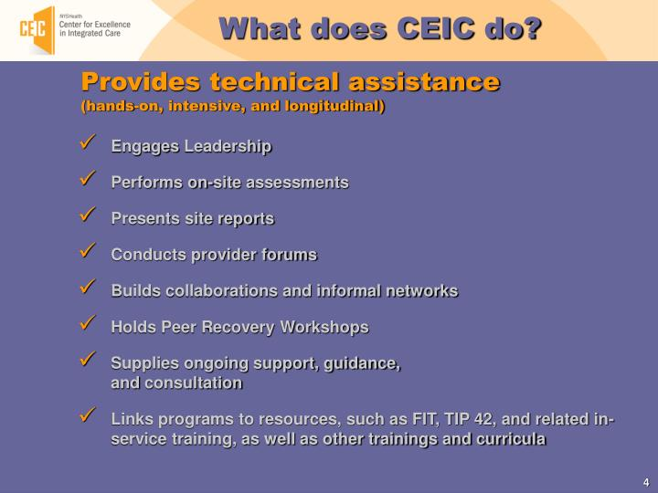 What does CEIC do?