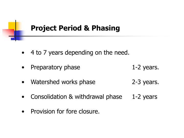 Project Period & Phasing