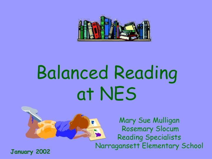 Balanced Reading