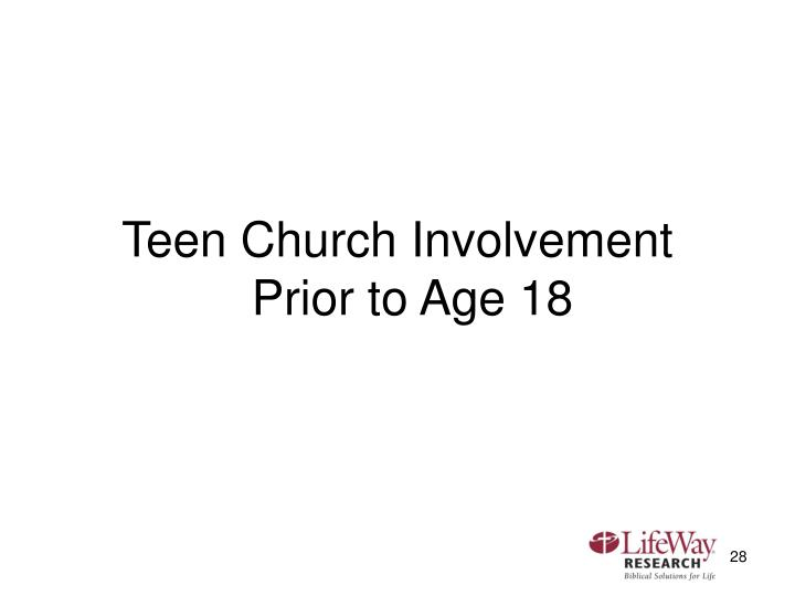 Teen Church Involvement