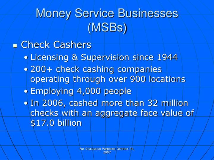 Money Service Businesses
