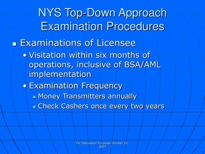 NYS Top-Down Approach