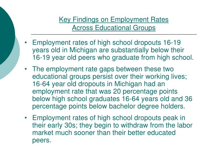 Key Findings on Employment Rates