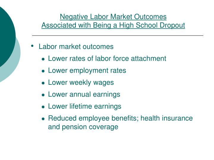 Negative Labor Market Outcomes