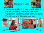 safety rules11
