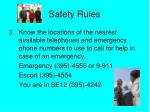safety rules2