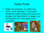 safety rules6