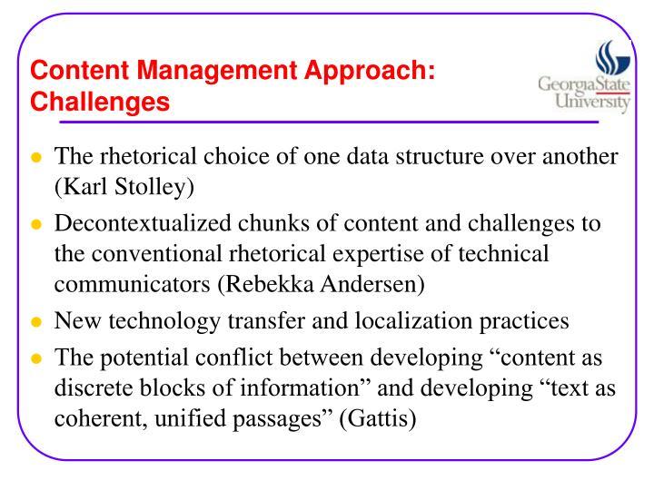 Content Management Approach: