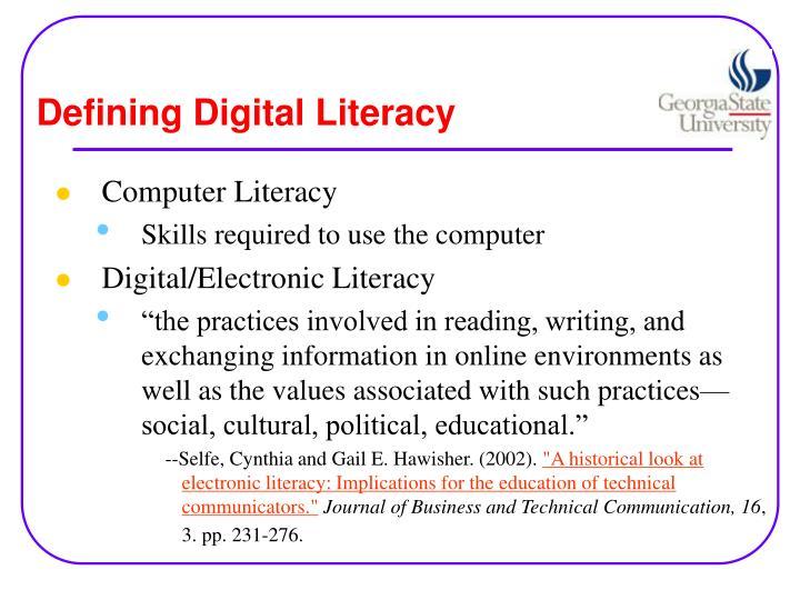 Defining Digital Literacy