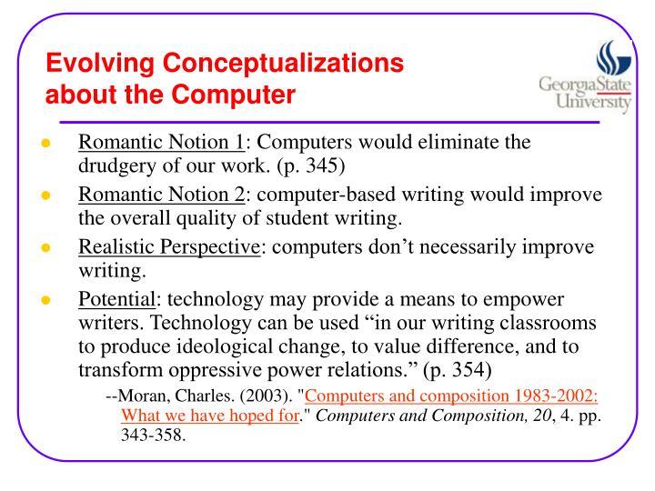 Evolving Conceptualizations
