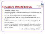 key aspects of digital literacy