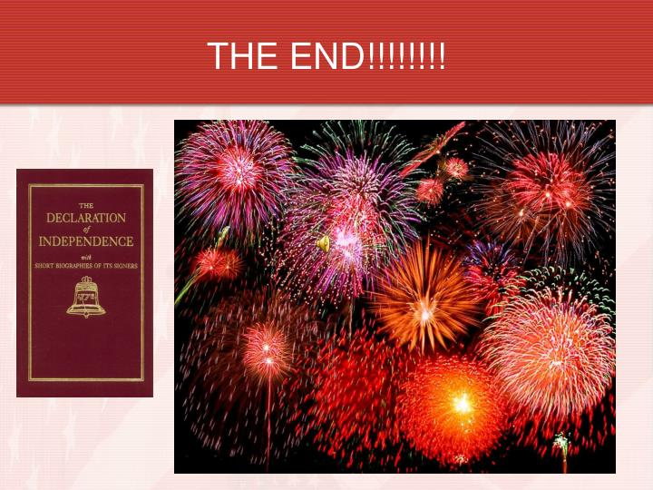 THE END!!!!!!!!