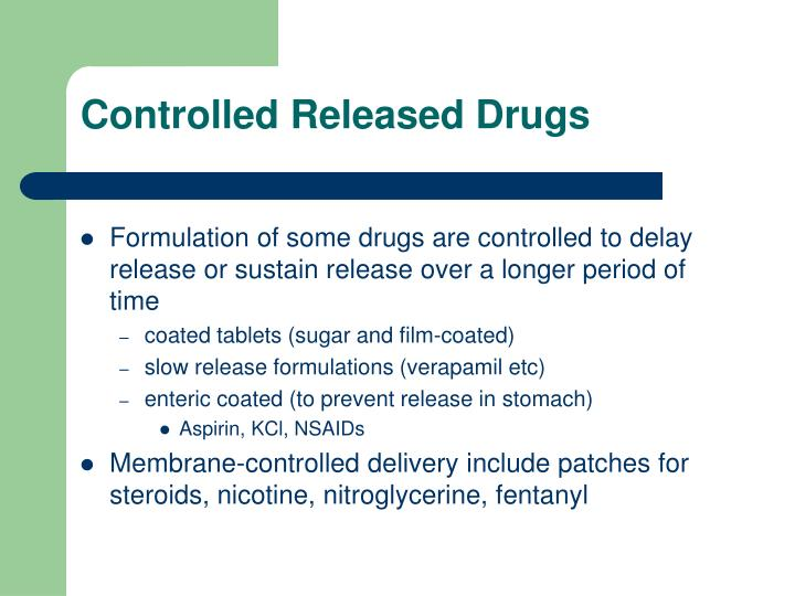 Controlled Released Drugs