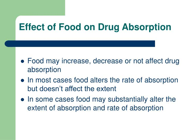 Effect of Food on Drug Absorption